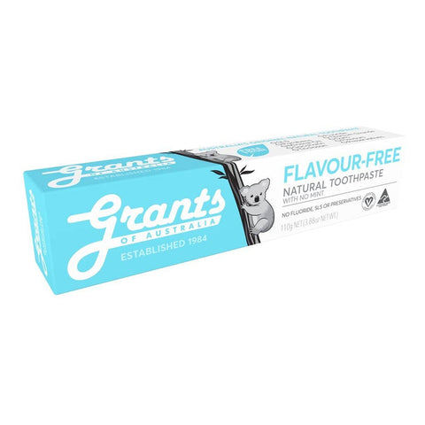 Grants - Natural Toothpaste - Flavour-Free (110g)