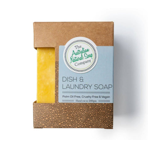 The Australian Natural Soap Company - Dish and Laundry Soap Bar (200g)