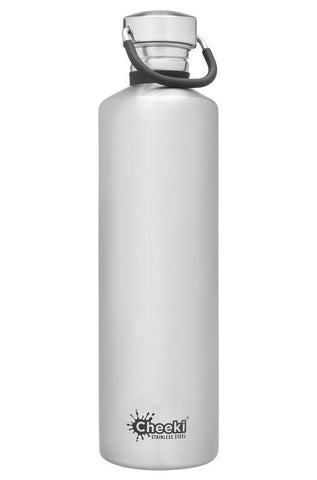 Cheeki - Classic Single Wall Bottle - Silver 1L