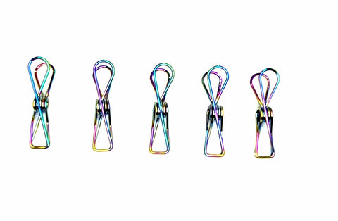 Bare & Co. - Stainless Steel Large Pegs - RAINBOW Marine Grade (50 Pack)