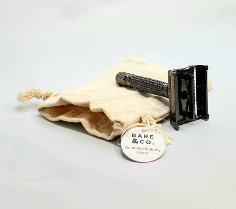 Bare & Co. - Butterfly Safety Razor - Gunmetal