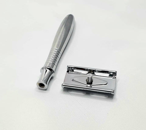 Bare & Co. - Traditional Double Edge Safety Razor - Silver