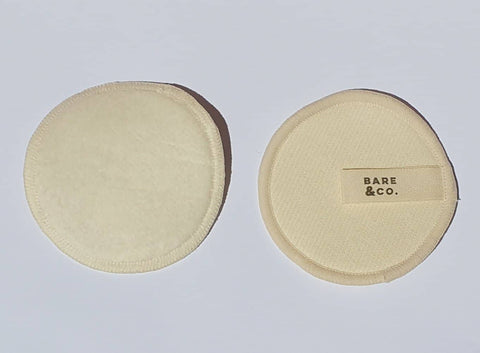 Bare & Co. Hemp Reusable Make Up Face Pads - 12 Pack In White