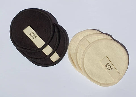 Bare & Co. Hemp Reusable Make Up Face Pads - 6 Pack Mixed