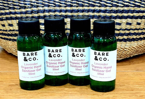 Bare & Co. - Hand Sanitiser Gel - Lavender (Family Pack 4 x 59ml)