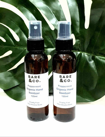 Bare & Co. - Hand Sanitiser Spray -  Peppermint (Twin Pack 2 x 125ml)