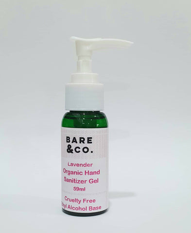 Bare & Co. - Hand Sanitiser Gel -  Lavender (59ml)