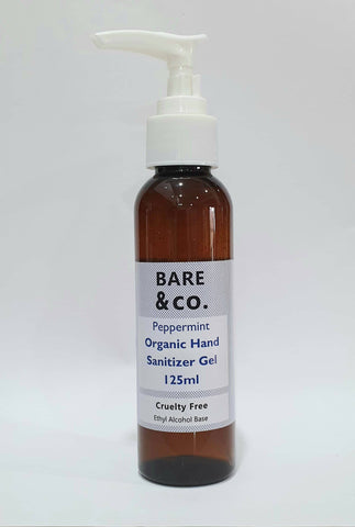Bare & Co. - Hand Sanitiser Gel -  Peppermint (125ml)