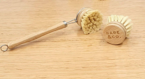 Bare & Co. - Reusable Bamboo Dish Brush Pack