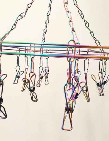 Bare & Co. - 316 Grade Stainless Steel Peg Hanger (20 pegs) - Rainbow Curve Design