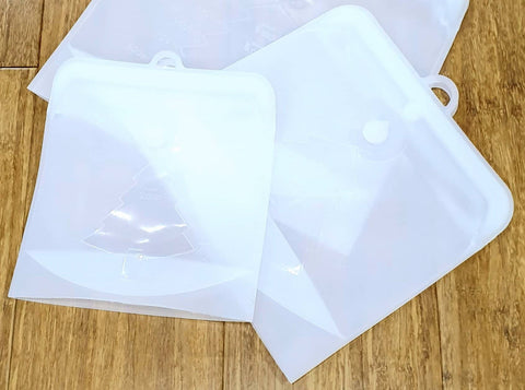 Bare & Co Reusable Multi Purpose Silicone Zip lock Bags - 2 Pack