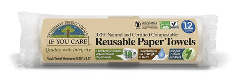 If You Care - Reusable Paper Towels 12 sheets