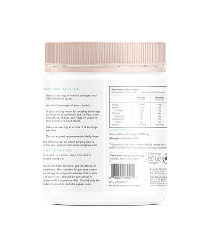 Vida Glow - Marine Collagen - Unflavoured (90g)