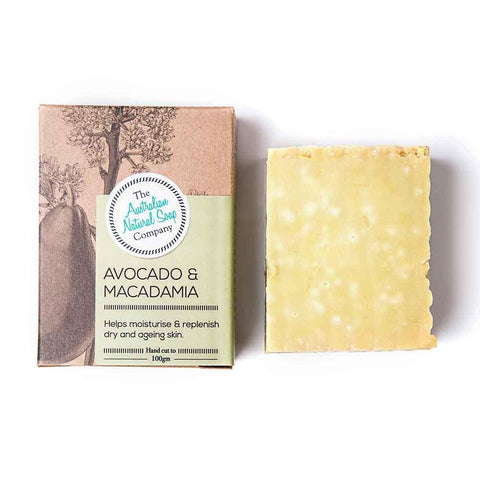 The Australian Natural Soap Company - Avocado and Macadmia Solid Soap (100g)