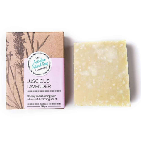 The Australian Natural Soap Company - Luscious Lavender Solid Soap (100g)