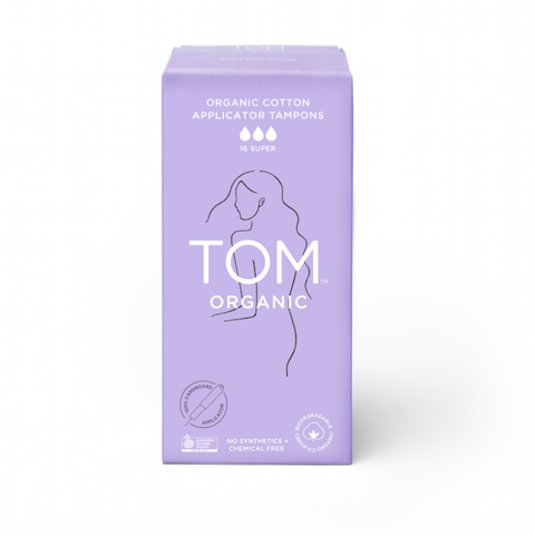 TOM Organic - Organic Cotton Tampons - Super with Applicator (16 pack)