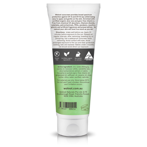 Wot Not - SPF 30+ Natural Sunscreen (100g)