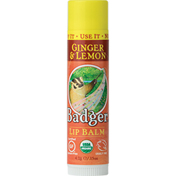 Badger - Classic Lip Balm - Ginger and Lemon (4.2g)