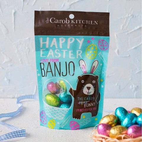 The Carob Kitchen - Banjo the Carob Bunny Mini Egg Gift Pack (140g)