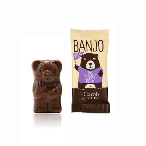 The Carob Kitchen - Banjo The Carob Bear - Vegan Coconut (15g)