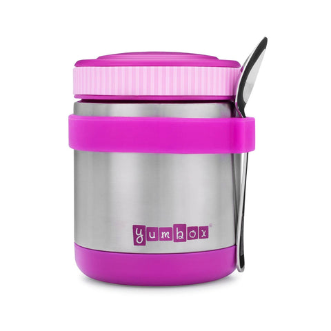 Yumbox - Zuppa Thermal Food Jar For Hot Lunch - 14oz with Spoon (Purple)