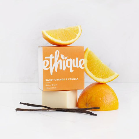 Ethique - Body Butter Block - Sweet Orange and Vanilla (100g)