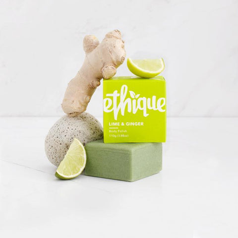 Ethique - Solid Body Polish - Lime and Ginger (110g)