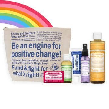Dr Bronners - Follow The Rainbow Travel Pack ( Limited Edition)
