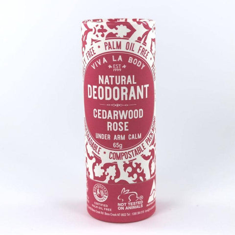 Viva La Body - Natural Deodorant - Cedarwood Rose (65g)
