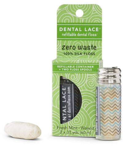Dental Lace - Zero Waste Silk Floss - Chevron (60m)
