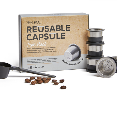 SealPod - Reusable Coffee Pods (Nespresso Compatible*) - Five Pack