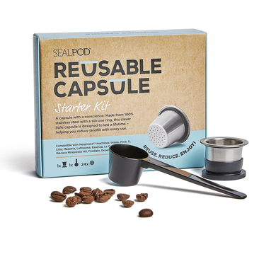 SealPod - Reusable Coffee Pods (Nespresso Compatible*) - Starter Pack