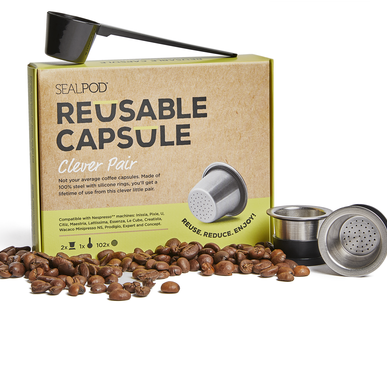 SealPod - Reusable Coffee Pods (Nespresso Compatible*) - Two Pack