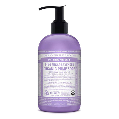 Dr Bronners 4 in 1 Organic Baby - Lavender Liquid Pump Soap 355ml