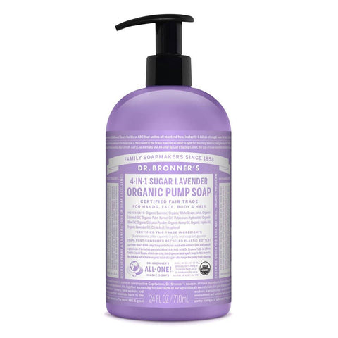 Dr Bronners - 4 in 1 Liquid Pump Soap - Lavender (710ml)