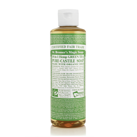Dr Bronners 18 in 1 Pure Castile - Green Tea Liquid Soap 237ml
