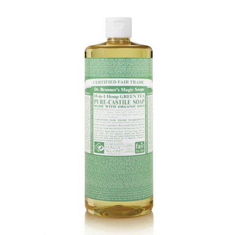 Dr Bronners 18 in 1 Pure Castile - Green Tea Liquid Soap 946ml