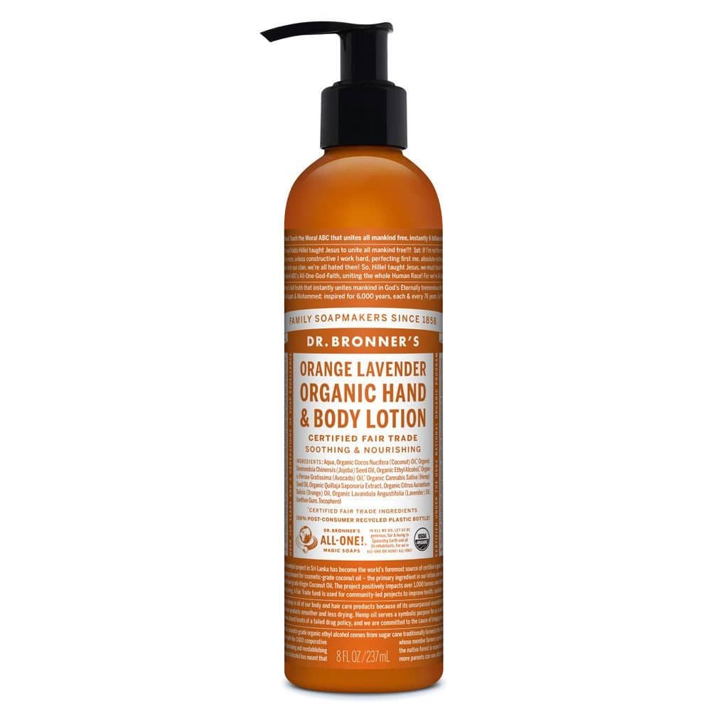 Dr Bronners Organic Hand & Body Lotion - Orange and Lavender