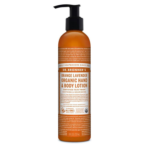 Dr Bronners - Organic Hand & Body Lotion - Orange and Lavender (237ml)
