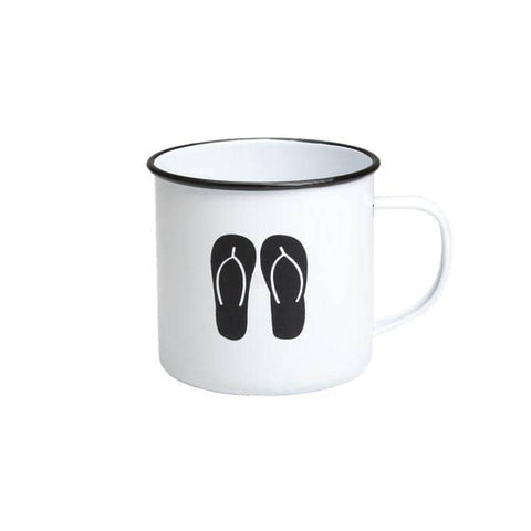 Retro Kitchen - Enamel Mug - Thongs