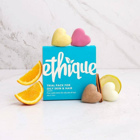 Ethique - Trial Pack for Oily Skin and Hair (60g)