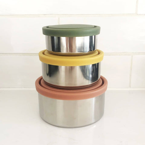 Ever Eco - Round Nesting Containers - Set of 3 Autumn Collection