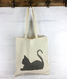 Apple Green Duck - Calico Tote -  Cat
