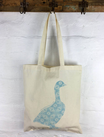 Apple Green Duck - Calico Tote -  Duck