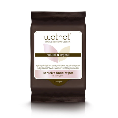 Wotnot - Sensitive Facial Wipes - All Skin Types (25 pack)