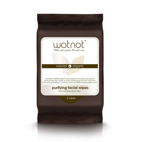 Wotnot - Purifying Facial Wipes - Oily/Combination Skin (5 pack)