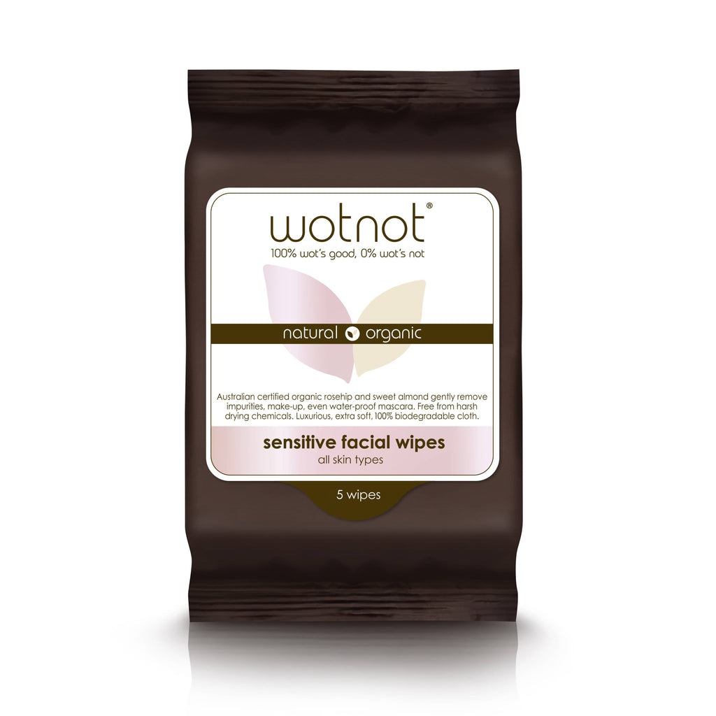 Wotnot - Sensitive Facial Wipes - All Skin Types (5 pack)