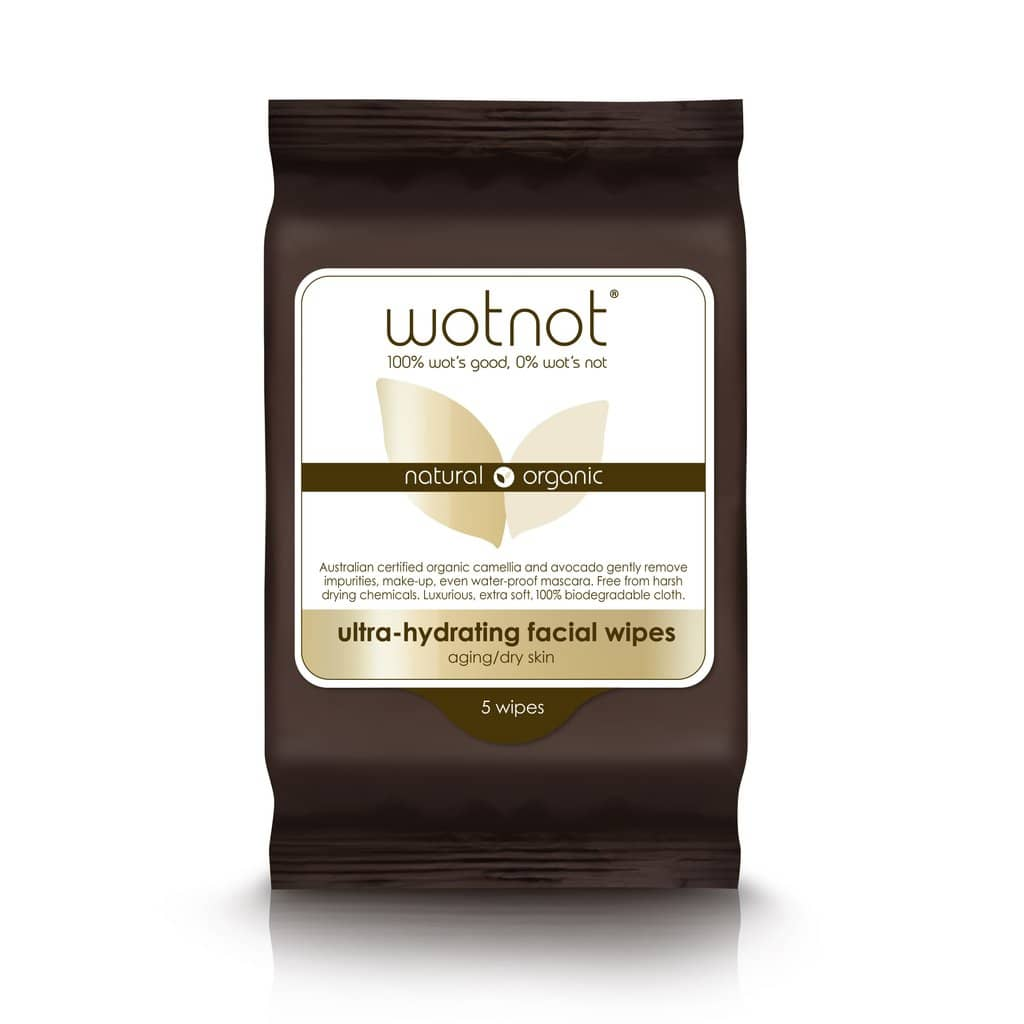 Wotnot - Ultra-Hydrating Facial Wipes - Aging/Dry Skin (5 pack)