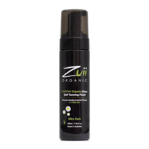 Zuii - Certified Organic Flora Self Tanning Foam - Ultra Dark (200ml)