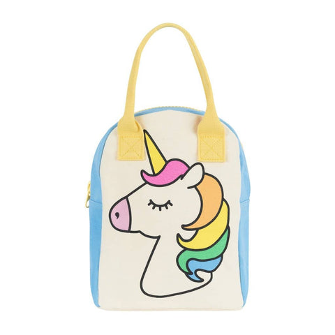 Fluf - Zipper Lunch Bag - Unicorn
